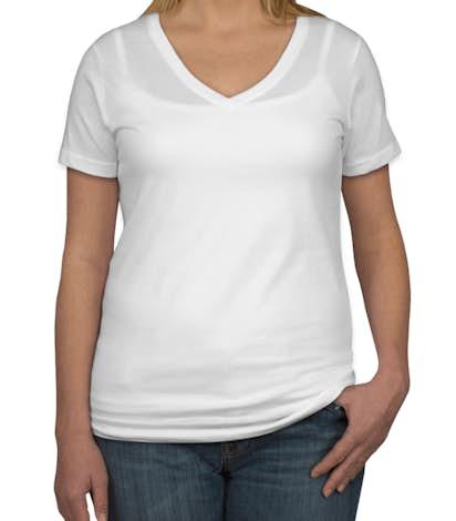 Anvil Ladies Lightweight V-Neck T-shirt - White