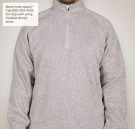 Devon & Jones Quarter Zip Sweater Fleece Pullover - Color: Grey Heather