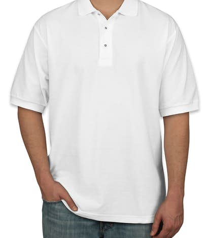 Port Authority Silk Touch Polo - White