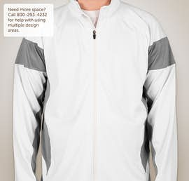 Team 365 Performance Warm-Up Jacket - Color: White / Sport Graphite