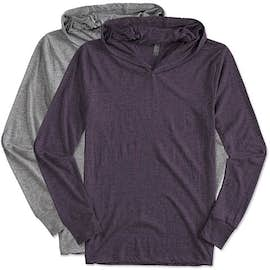 Next Level Tri-Blend Hooded Long Sleeve T-shirt
