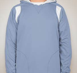 Team 365 Contrast Performance Pullover Hoodie - Color: Sport Light Blue / White