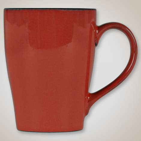 16 oz. Ceramic Two-Tone Sherwood Mug - Russet / Black