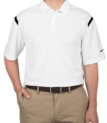 Nike Golf Dri-FIT Shoulder Stripe Performance Polo - White / Black