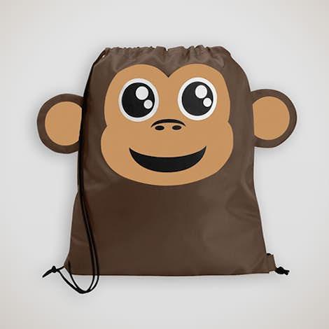 Paws N Claws Sport Drawstring Bag - Monkey