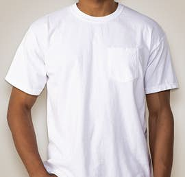 Comfort Colors 100% Cotton Pocket T-shirt - Color: White