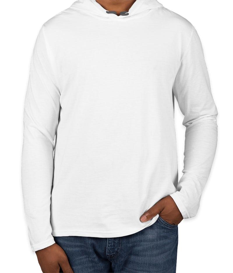 Custom Canada Anvil Hooded Long Sleeve T Shirt Design