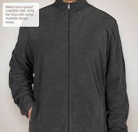 Port Authority Heather Microfleece Full Zip Jacket - Color: Black Charcoal Heather