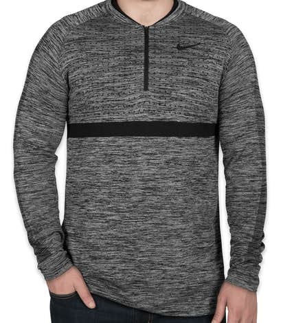 Limited Edition Nike Performance Half Zip Pullover - Wolf Grey / Black