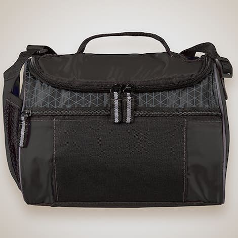 Colorblock Zip-Top 8 Can Lunch Cooler - Black