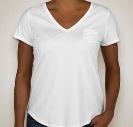 GAP Ladies Vintage Wash V-Neck Tee - Color: Optic White
