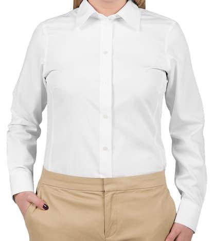 Devon & Jones Ladies Solid Dress Shirt - White