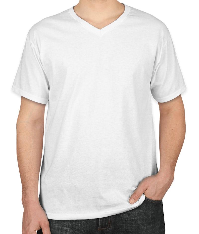 Custom Fruit Of The Loom 100 Cotton V Neck T Shirt