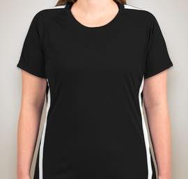 Sport-Tek Ladies Competitor Colorblock Performance Shirt - Color: Black / White