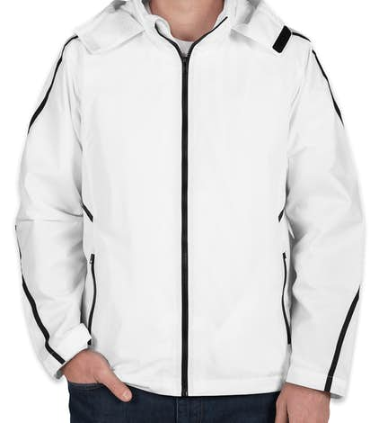 Team 365 Mesh Lined Hooded Jacket - White