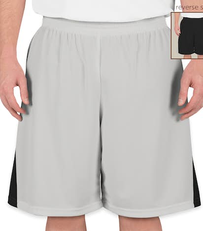Teamwork Turnaround Reversible Basketball Shorts - Silver / Black