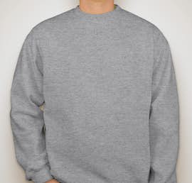 Bayside Heavyweight USA Crewneck Sweatshirt - Color: Dark Ash