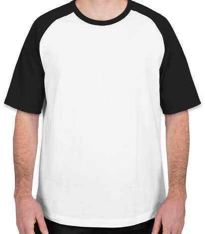 Custom Sport Tek Short Sleeve Baseball Raglan Design