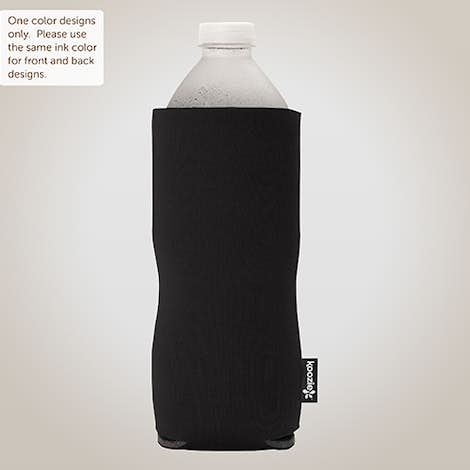 Foldable Large Bottle KOOZIE ® - Black