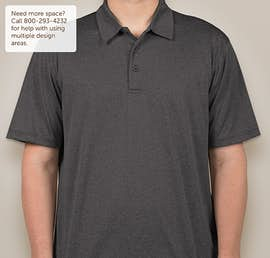 Sport-Tek Heather Performance Polo - Screen Printed - Color: Graphite Heather