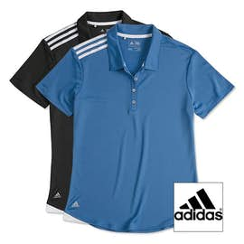 Adidas Ladies Climacool 3-Stripes Shoulder Polo
