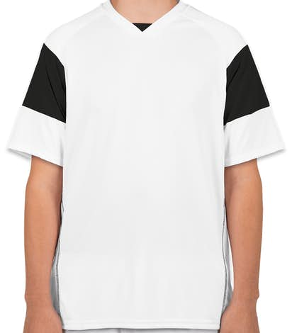 High Five Mundo Performance Soccer Jersey - White / Black / White