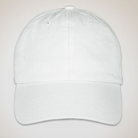 Bayside Cotton Twill USA Hat - White