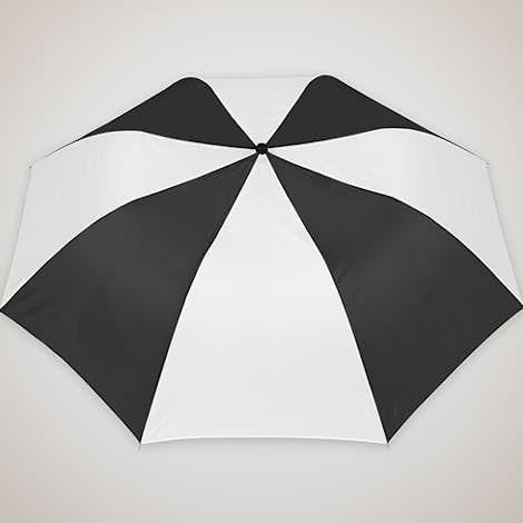 """Arc Auto Open Multi-Tone Telescopic Folding 44"""" Umbrella - Black / White"""