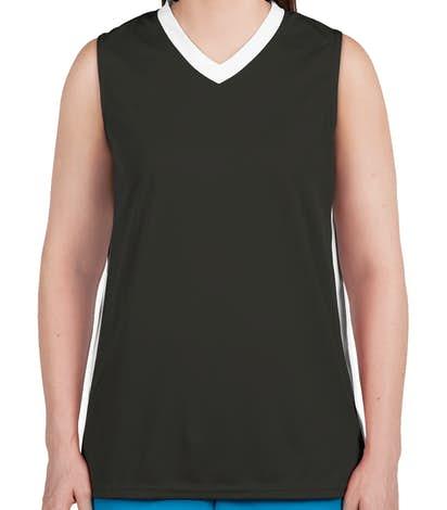 Augusta Ladies Colorblock Basketball Jersey - Slate / White