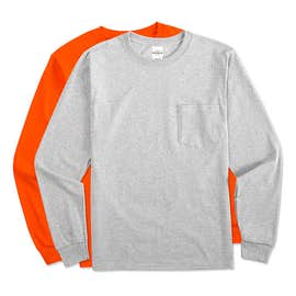 Hanes ComfortSoft® Tagless Long Sleeve Pocket T-shirt