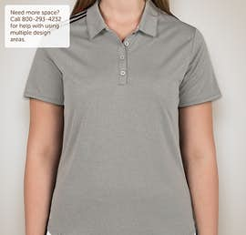 Adidas Ladies Climacool 3-Stripes Shoulder Polo - Color: Medium Grey Heather