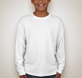 Jerzees Youth 50/50 Long Sleeve T-shirt - Color: White