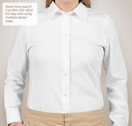 Devon & Jones Ladies Solid Dress Shirt - Color: White