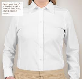 Devon & Jones Ladies Solid Dress Shirt - Color: White