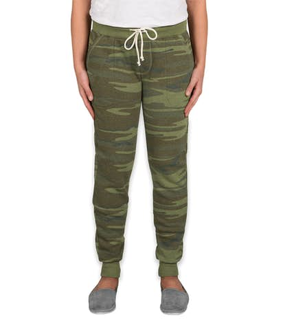 Alternative Apparel Juniors Camo Jogger Sweatpants - Camo