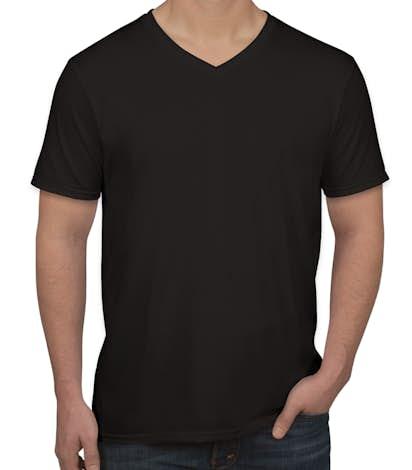 Custom gildan softstyle jersey v neck t shirt design for Custom t shirts gildan