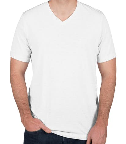 Canvas Tri-Blend V-Neck T-shirt - Solid White Tri-Blend
