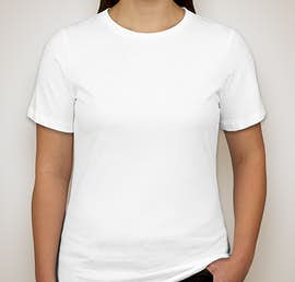 Bella Ladies Tri-Blend T-shirt - Color: Solid White Tri-Blend