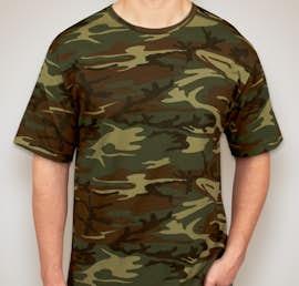 Code 5 Camo T-shirt - Color: Green Woodland