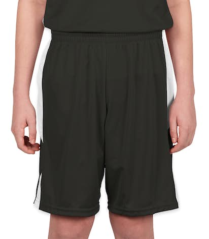 Augusta Youth Colorblock Basketball Shorts - Slate / White