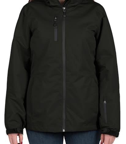 Port Authority Ladies 3-in-1 Waterproof Vortex System Jacket - Black / Black