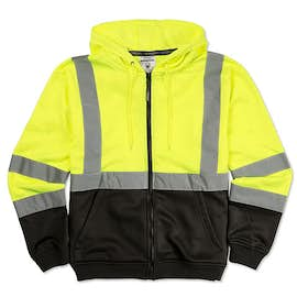 ML Kishigo Class 3 Hi-Vis Hooded Full Zip Sweatshirt