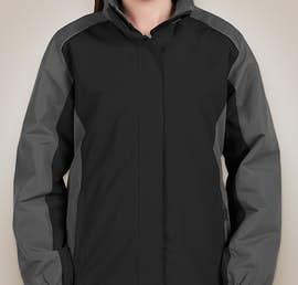 Core 365 Ladies Colorblock Fleece Lined All-Season Jacket - Color: Black / Carbon