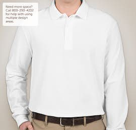 Gildan Dryblend Double Pique Long Sleeve Polo - Color: White