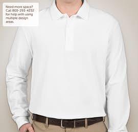 Canada - Gildan Dryblend Double Pique Long Sleeve Polo - Color: White