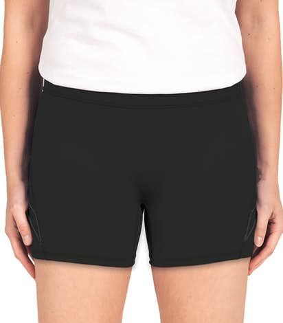 Augusta Ladies Contrast Volleyball Short - Black / Black