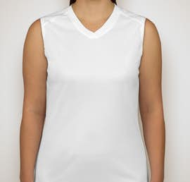 Badger B-Dry Ladies Sleeveless Performance Shirt - Color: White