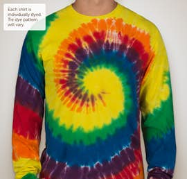 Port & Company Tie-Dye Long Sleeve T-shirt - Color: Rainbow