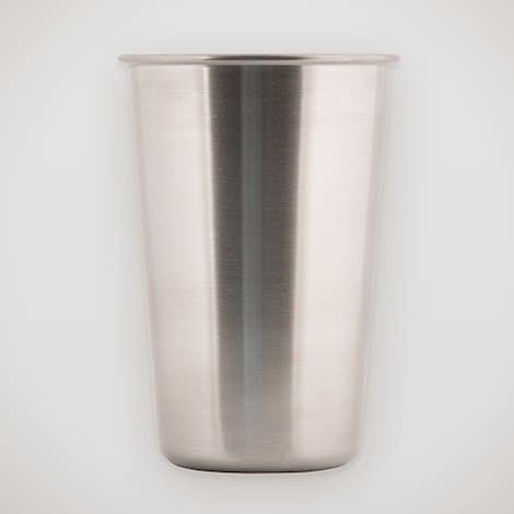 16 oz. Stainless Steel Pint Cup - Silver