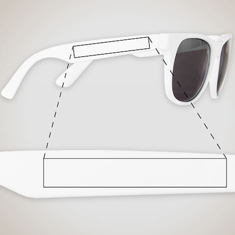 Solid Promotional Sunglasses - White / White